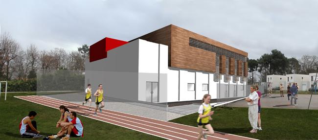 restructuration d 39 un quipement sportif et ses annexes et. Black Bedroom Furniture Sets. Home Design Ideas